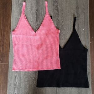 TWO FOR ONE - Brand New Knit Tank Tops | L